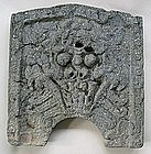 A Very Rare and Fine Monster-Shape Roof End Tile