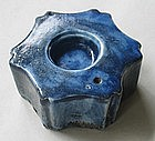 An Unusual Shape of Total Blue Water Dropper