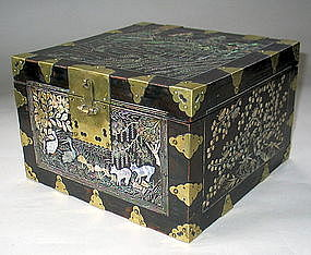 A Very Fine Mother of Pearl Inlaid Document Box