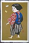 A Very Rare and Fine  Woodblock Print by Kiyoshi Saito