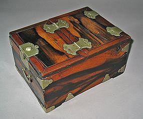 A Fine Korean Persimmen Wood Cosmetic Box (Kyung Dae