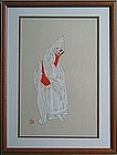 Fine Dancing Woman Water Color Painting by Won Suk Yeon