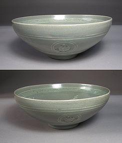 Very Fine Celadon Inlaid Deep Bowl -13th C.