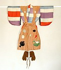 Japanese Vintage Textile A Set of Boy's Stage Kimono