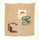 Japanese Vintage Textile Silk Oni-chirimen Fukusa