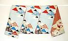 Japanese Vintage Textile Katazome Chuya Obi