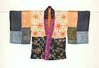 Japanese Antique Textile Yosegire Han-juban Itajime
