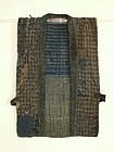 Japanese Antique Textile Boro Sashiko Sodenashi