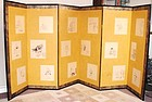 Japanese Antique Byobu Folding Screen Ink-painting