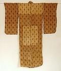 Japanese Vintage Textile Bashofu Kimono With Kasuri