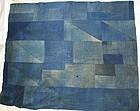 Japanese Vintage Textile Sashiko Rug Or Futon