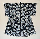 Japanese Vintage  Cotton Kimono Shibori Katazome