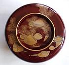 Japanese Antique Urushi Shell Makie Ohira-wan