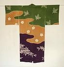Japanese Vintage Textile Silk Juban With Shibori