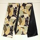 Japanese Vintage Textile Silk Obi With Katazome