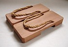 Japanese Vintage Wooden Roji Geta Clogs