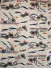 Japanese Vintage Textile Bingata Obi Cloth