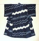 Japanese Antique Textile Shibori Kimono Tohoku