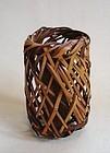 Japanese Vintage Bamboo Hanging Flower Basket