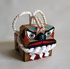 Japanese Vintage Mingei Craft Wooden Tosa Dog