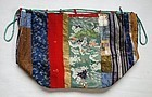 Japanese Antique Textile  Bag Made of Edo Fragments