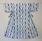 Japanese Antique Textile Shirakage Shibori Kimono