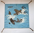 Japanese Antique Textile Fukusa Tapestry Weave