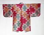 Japanese Vintage Textile Meisen Haori Matsukawa-bishi