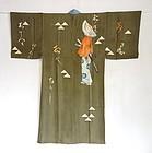 Japanese Vintage Textile Man's Silk Juban Ronin