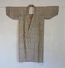 Japanese Vintage Textile Tsushima Asa Kimono
