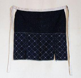Japanese Vintage Textile Apron With Sashiko