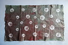 Japanese Handmade Paper With Shibori Brown