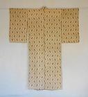 Japanese Vintage Textile Asa Akaso Kasuri Woman's Kimono
