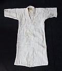 Japanese Vintage Textile White Cotton Boro Kimono