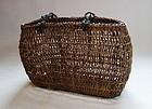 Japanese Vintage Mingei Basket Handmade of Akebi Vine