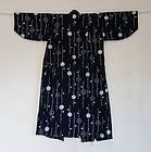 Japanese Vintage Textile Cotton Shibori Girl's Kimono Tohoku