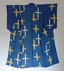 Japanese Vintage Textile Ojiya-chijimi Woman's SummerKimono