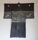 Japanese Antique Textile Asa Boy's Festive Kimono Edo