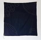 Japanese Vintage Textile Cotton Indigo Sashiko Furoshiki