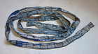 Japanese Antique Textile Boro Belt Made of Many Fragments