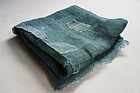 Japanese Antique Textile Asa Hemp Mosquito Net Green