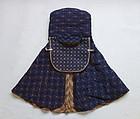 Japanese Vintage Textile Fireman's Hood with Sashiko by Machine