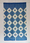 Japanese Decorative Curtain Asa Noren with Itajime Shibori