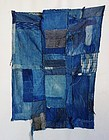 Japanese Vintage Textile Small Boro Made of Old Indgo Fragments