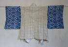 Japanese Antique Textile Cotton Ase Hajiki with Asa Katazome