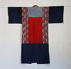 Japanese Antique Textile Yose-gire Juban Under Kimono-2