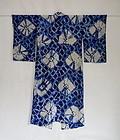 Japanese Vintage Textile Shibori Woman's Kimono