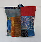 Japanese Antique Textile Yose-gire Han-juban Made of Silk