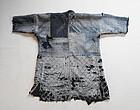 Japanese Vintage Textile Boro Indigo Kendo-gi with Sashiko