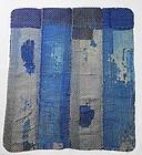 Japanese Vintage Mingei Textile Boro Small Carpet with Sashiko
